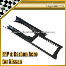 For Nissan R35 GTR OEM Style Carbon Fiber Interior Center Console Cover Left Hand Drive