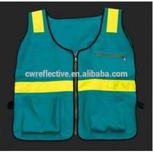Blue Reflective Vest/ Black Safety Vest / Glow in the Dark Vest