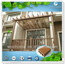 Jardín y exterior compuesto plástico de madera de esgrima