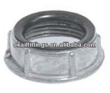 Zinc conduit bushing in flexible electrical fittings