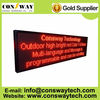 CE and RoHS approved outdoor mobile led sign, size 56*200cm and red color