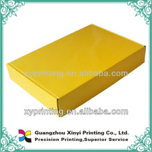 Corrugated packaging box with glossy lamination