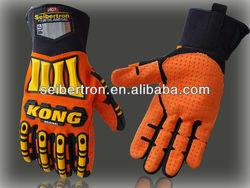 NEW Seibertron KONG SDX ORIGINAL Impact Protection Gloves - Orange Hi Vis Palm Gloves Heavy Duty Industrial Gloves