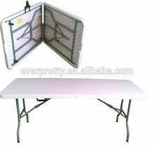 Plastic Folding Table,Foldable Table Black,Rectangle Folding Cart Table