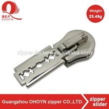 Bright zinc alloy custom zipper pull tabs 7.4g