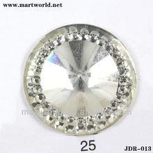 low price white acrylic rhinestone accessories (JDR-013)