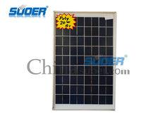 suoer poly solar panel 20w 18v solar cell module