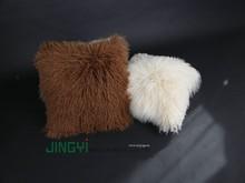 Wholesale Tibetan Mongolian Lamb Fur Skin Cushion Cover