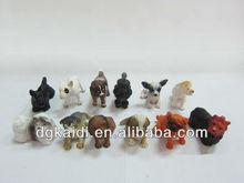 Plastic lovely dog animal toys for kids