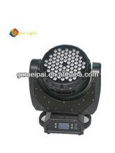 new led disco light/dj light led 72*3w moving head wash/RGBW led stage lighting