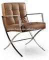 Nuevo diseño de cuero suave / ocio / de lujo salón que labra la silla muebles / alta calidad bacelona sofá suave