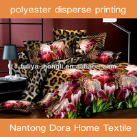 microfiber 3D disperse printed king size bed sheet