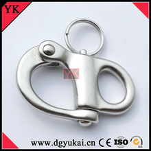 Stainless Steel Quick Link, Fixed Bail Snap Shackle, Stainless Steel Snap Hook for Boat