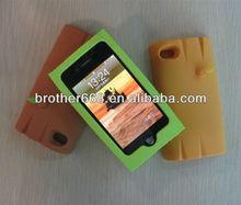 custom design silicone rubber phone case cover, strange new mobile phone case, 3Dcute design