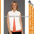 2012 venta caliente señoras chaleco formales baratos al por mayor de moda los pantalones vaqueros chaleco para las mujeres( hywj553)