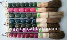 Chinese traditional decorative writing brush pen ,marble stone handle brush pen