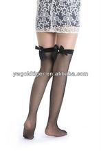 Summer Wholesale Korean Fashion Sexy Elegant Thin Anti-slip Soft Sheer Fishnet With Rhinestone Bow Woman Socks