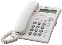 Corded Telephone with memory of the last 20 incoming calls and 50 phones and names Panasonic KX-TSC 11 White color