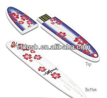 Surfboard shape USB sticks pen drive flash,PVC surfboard usb flash drive 8gb 4gb,custom soft PVC usb,sport usb stick
