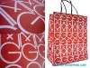 Kraft Paper Bag for shopping with press pattern