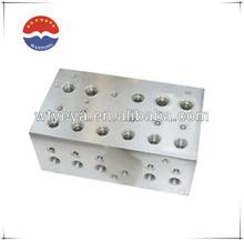 6PORTS Aluminum hydraulic manifold 1.8-5ton 3000PSI 24V 2TON