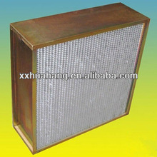 Deep pleated hepa filter h14,hepa air filter with fan
