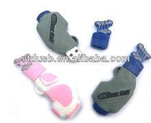 Golf bag USB sticks flash drive,Golf bag USB drive,Customized golf bag shaped sticks driver