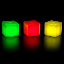 Assorted Colors Glow ice cube , fluorescence ice cube