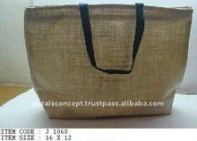 Jute market used tote bag