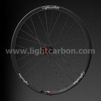 2014 LIGHTCARBON 29ER tubuless MTB carbon wheelset 30mm width Thru-axle AM/XC straight pull OEM mountain bike carbon wheel