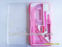 8pcs plastic geometry box, geometry set, mathematical set