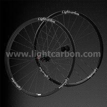 2014 LIGHTCARBON 650B tubeless MTB pro carbon wheelset thru-axle cross country mountain wheels for bike