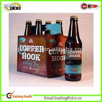 Sales Kraft box for Bottle Beer/wine Carriers box