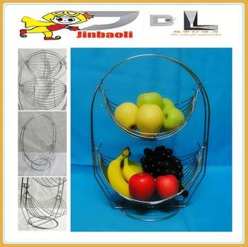JBL chrome fruit basket, 2 layers hanging baskets fo fruit