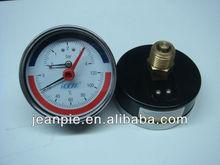 combined temperature /pressure gauge ,thermo manometer