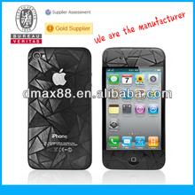 Screen protectors with design for iPhone 4s 3d screen protector oem/odm (3D-Anti-Fingerprint)