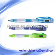 ball pen with watch LCD watch pen