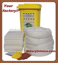 ISO 9000:2008 Oil Spill Kits, MSDS, 100% PP Emergency Oil Spill Kits oil absorbent (emergency response)
