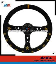 Suede steering wheel(350mm/96mm Dish/Suede)