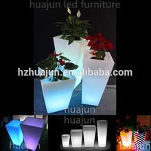 planter with led light,solar flower pot,outdoor planter
