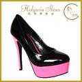 negro y rosa de zapato de vestir las mujeres para plataformas de bombas de los zapatos