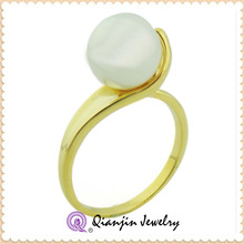 hot sale high quality chinese design alloy gold pearl ring