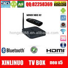 Wholesale Newest Minix Neo X7 RK 3188 Quad Core Andriod 4.2 TV Box Cortex-A9 RJ45 MINIX X7