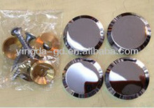 high quality zinc alloy mirror decorative nail/decorative support nail