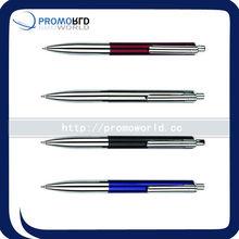 automobile metal pen metal ball pen smooth finish metal ballpen with brass clip