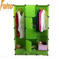 De color verde armario ropero con material plástico pp( fh- al0740- 7)