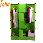 Green Color wardrobe closet with PP plastic material (FH-AL0740-7)
