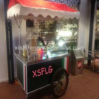 Foshan ice cream cart/small ice cream display cart /Italian gelato display tricycle