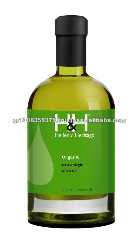 H&H Extra Virgin Olive Oil of Organic Farming 500 ml Glass