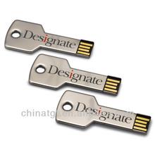 Stainless Steel Key Shape Flash Drive USB